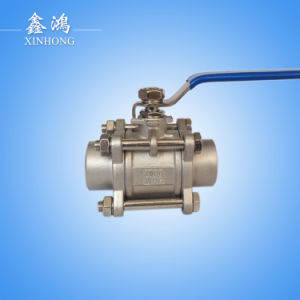 304 Stainless Steel 3PC Welded Ball Valve Dn15 pictures & photos
