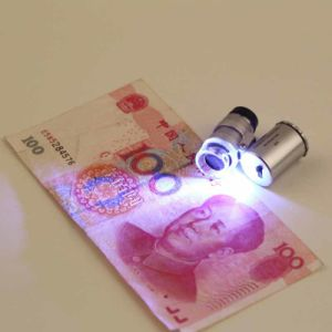Money Tester 60X Pocket Microscope Magnifier with Clip UV Loupe pictures & photos