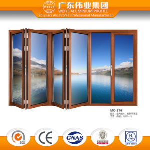 Strong Double Glazing Commercial Frameless Glass Aluminum/Aluminium/Aluminio Folding Doors pictures & photos