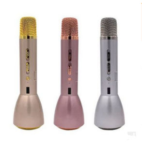 Hot Sale Portable Handheld Full Metal K Song Wireless Bluetooth Speaker Microphone Mini Karaoke Player KTV Singing Record pictures & photos