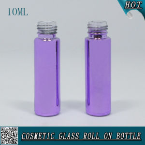 10ml Cosmetic Purple Glass Roll on Bottle with Stainless Steel Roller Boll pictures & photos