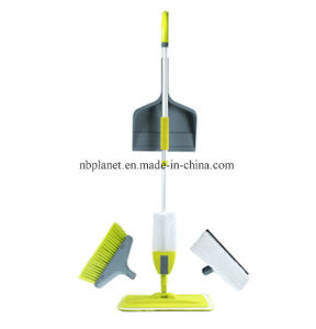 Multi-Cleaning Set with Spray Mop Broom Dust Pan Window Wiper - New Design! pictures & photos