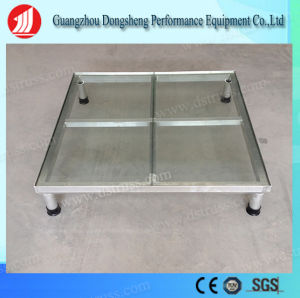 1.22m*1.22m Transparent Tempered Glass Stage Equipment Plexiglass Aluminum Simple Stage pictures & photos