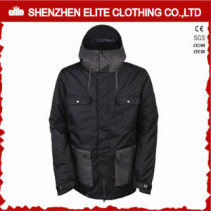 Black Thermal Winter Ski Jackets Men Waterproof (ELTSNBJI-57) pictures & photos