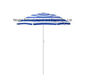 Outdoor Promotion Manual Open Beach Umbrella with PVC Bag pictures & photos