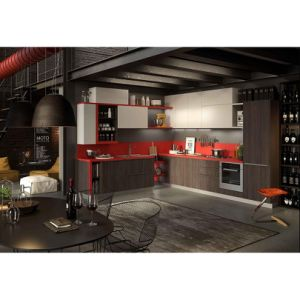 Grandshine Top Quality Modern Red & Black Lacquer Kitchen Cabinets pictures & photos