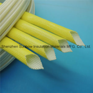Wear Resistant Acrylic Coated Thermal Insulation Fiberglass Sleeving pictures & photos