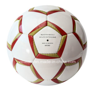 Best Rated Hand Stitched PU Wearproof Soccer Ball pictures & photos