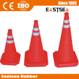 Red Base ABS Plastic Retractable Traffic Cone (RTC-30) pictures & photos