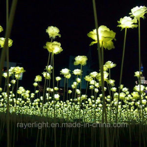 LED Artificial Rose Flower Lights Christmas Lawn Decorations pictures & photos