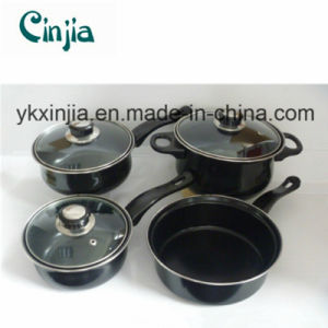 Wal-Mart Kitchen Ware Carbon Steel Non-Stick Cookware Set pictures & photos