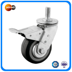 Heavy Duty PU M20 Thead Swivel Caster with Brake pictures & photos
