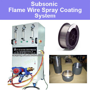 Subsonic Flame Wire Spraying System for Metal Worn out Parts Repair T8 Molybdenum Carbon Stainless Steel Copper Al Aluminum Oxide Zinc Coatings pictures & photos
