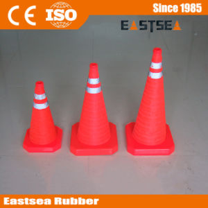 Orange ABS Plastic Retractable LED Light Traffic Cone pictures & photos