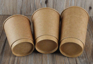 Printed Double Wall Paper Coffee Cups pictures & photos