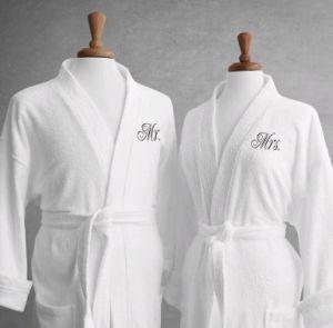High-Grade Hotel Cotton Couple Bathrobe/Nightwear/Sleeping Robe/Pajamas pictures & photos