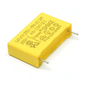 Long Life Reliable Small Yellow 275VAC X2 Metallized Polypropylene Film Capacitor Tmcf19 pictures & photos