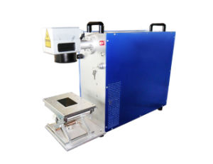 Portable Fiber Laser Marker Engraver for Metal Plastic Wood pictures & photos