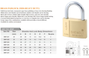 MID-Heavy Duty Brass Padlock with High Quality Competitive Price pictures & photos