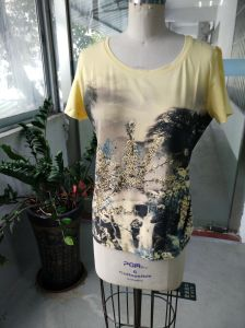Summer Latest Fashion Printing Mountain Charming Women T-Shirt pictures & photos