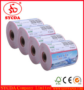 Shenzhen Factory Logo Printed Available 80mm ATM Paper pictures & photos