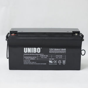 Solar Battery 12V150ah High Quality Solor System AGM Lead Acid Battery pictures & photos