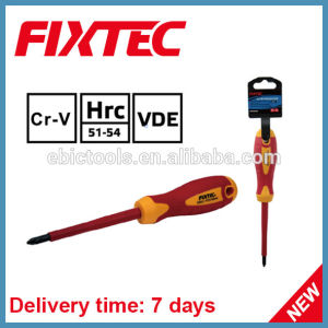 Fixtec Safety Hand Tools CRV Slotted Pozidriv Insulated Screwdriver pictures & photos
