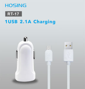 5V 2.1A High Light Car Charger with LED Blue Light Indicator pictures & photos