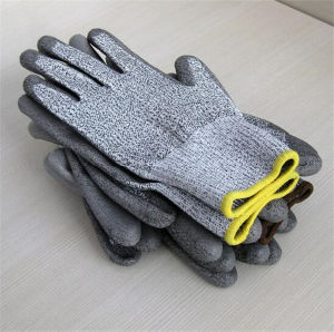 13 Gauge HDPE with PU Coated Gloves Cut Level 3 pictures & photos
