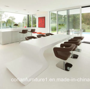 New Design Corian Made Dining Table for Home, Hotel pictures & photos