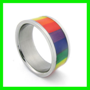 Gay Pride Engagement Rings Jewelry Acrylic, Gay Pride, Rainbow, Stripe, Tapers. DESIGNS