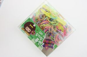 Fashion DIY Jewelry Colorful Rainbow Loom Rubber Bands Made in China
