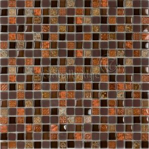 Painted Stone & Crystal Mix Mosaic Tile (M8PTY59)