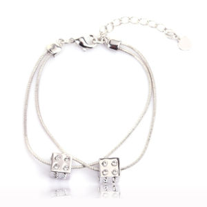 Top Grade 18k Platinum Plated Alloy Cube Bracelet with Austrial Crystal 30083