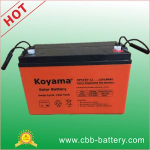 12V100ah Sealed Lead Acid Battery, UPS Battery, Rechargeable Deep Cycle Gel Solar Battery pictures & photos