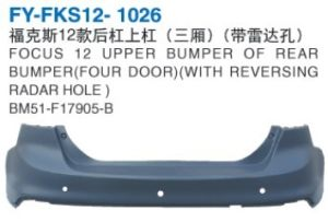 Car Rear Bumper Upper Bumper for Ford Focus 2011-2012 Four Door with Radar Hole