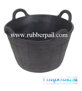 Flexible Rubber Bucket, Construction Tool (5608)