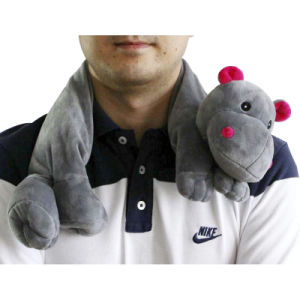 Hot Cold Ice Gel Pack for Pain Relief Beneficial to Human Body Health Animal Hippo Neck Pillow (p20092)