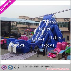 Lilytoys Giant Inflatable Water Slide for Adult with Flying Slide
