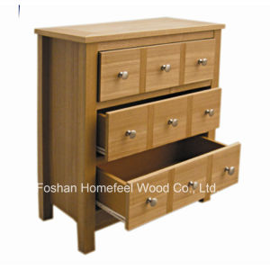 Appealing Wooden Bedroom 3 Wide Drawer Chest (HC29) pictures & photos