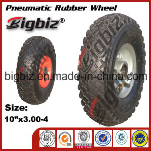 Qingdao High Quality Semi Pneumatic 5 Inch Rubber Wheel pictures & photos