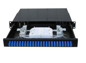 1.2mm Simplex / Duplex 1u MPO Patch Panel for Sc LC MPO Cassette pictures & photos
