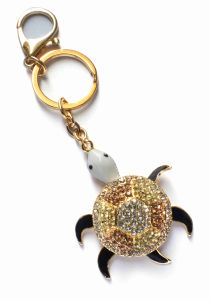 Bling Diamante Turtle Key Chain Key Ring Bag Charm (K697)