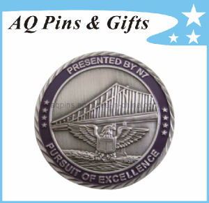 Metal Eagle Military Challenge Coin with Enamel Color pictures & photos