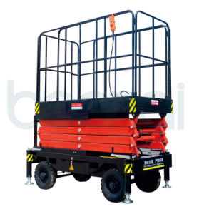 Self-Propelled Type Hydraulic Scissor Lift for Two People pictures & photos