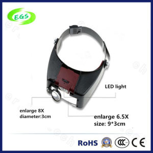 1.5X, 3X, 6.5X, 8X LED Medical Surgical Optical Magnifier Lamp/Lens with Light (EGS-81010-A) pictures & photos