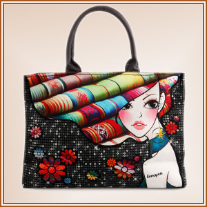 New Design Palace Style Printed Canvas Beach Bag pictures & photos