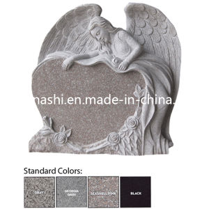 Best Angel Heart Gravestone / Monument/ Headstone with Flowers pictures & photos