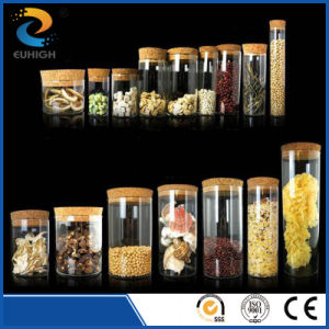 Customized High Quality Glass Storage Jar with Cork Lid