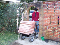 Garden Loader /Power Barrow (Flat Bed) pictures & photos